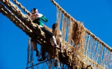 Peru Travel - Hand Woven Bridge